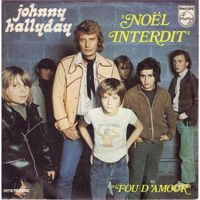 Johnny Hallyday - Noel interdit (CLIP LIVE TV)