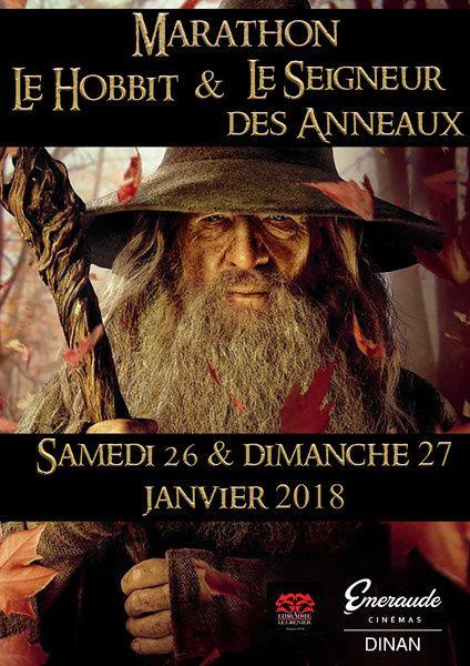 MARATHON LE HOBBIT / LE SEIGNEUR DES ANNEAUX - Emeraude Cinéma - Dinan - Samedi 26 et Dimanche 27 janvier 2019