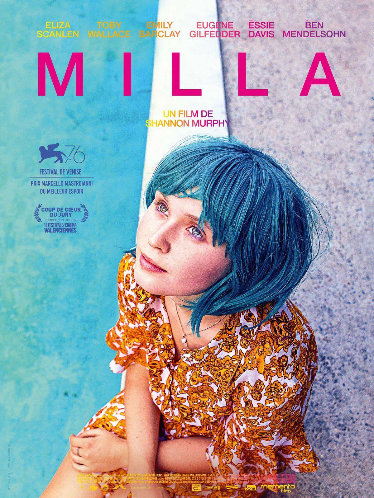 Milla de Shannon Murphy avec Eliza Scanlen, Toby Wallace, Emily Barclay - Le 3 février 2021 au cinéma