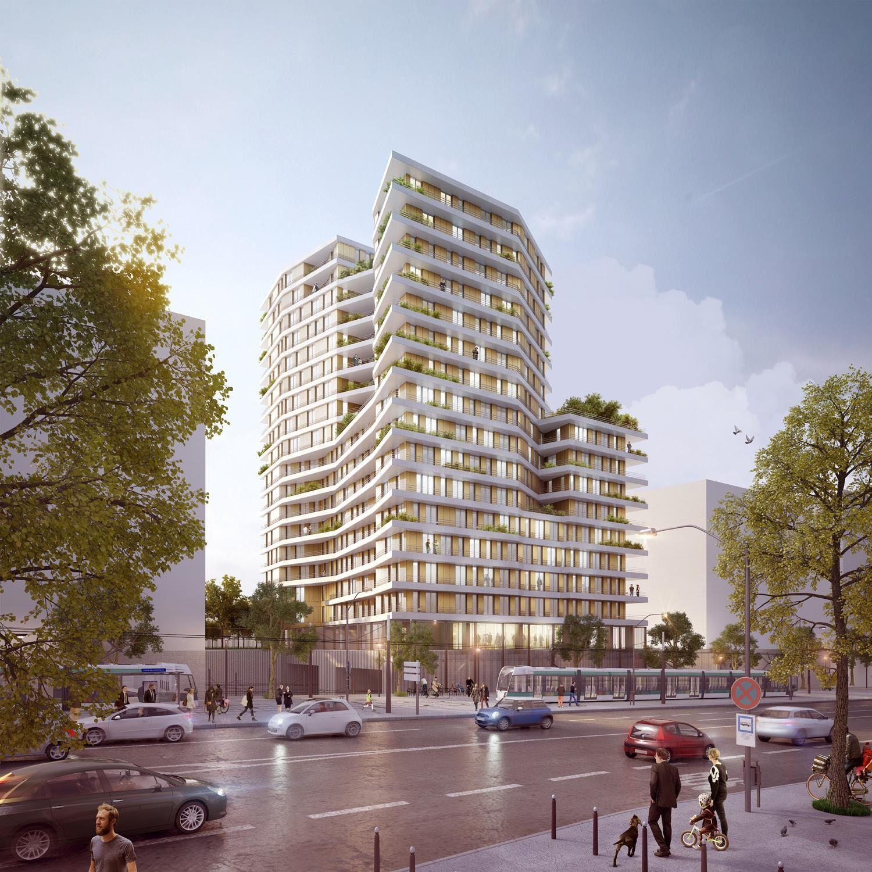 Chapelle International : lot B (logements)  - Lauréat : Ignacio Prego Architectures - Visuel lauréat