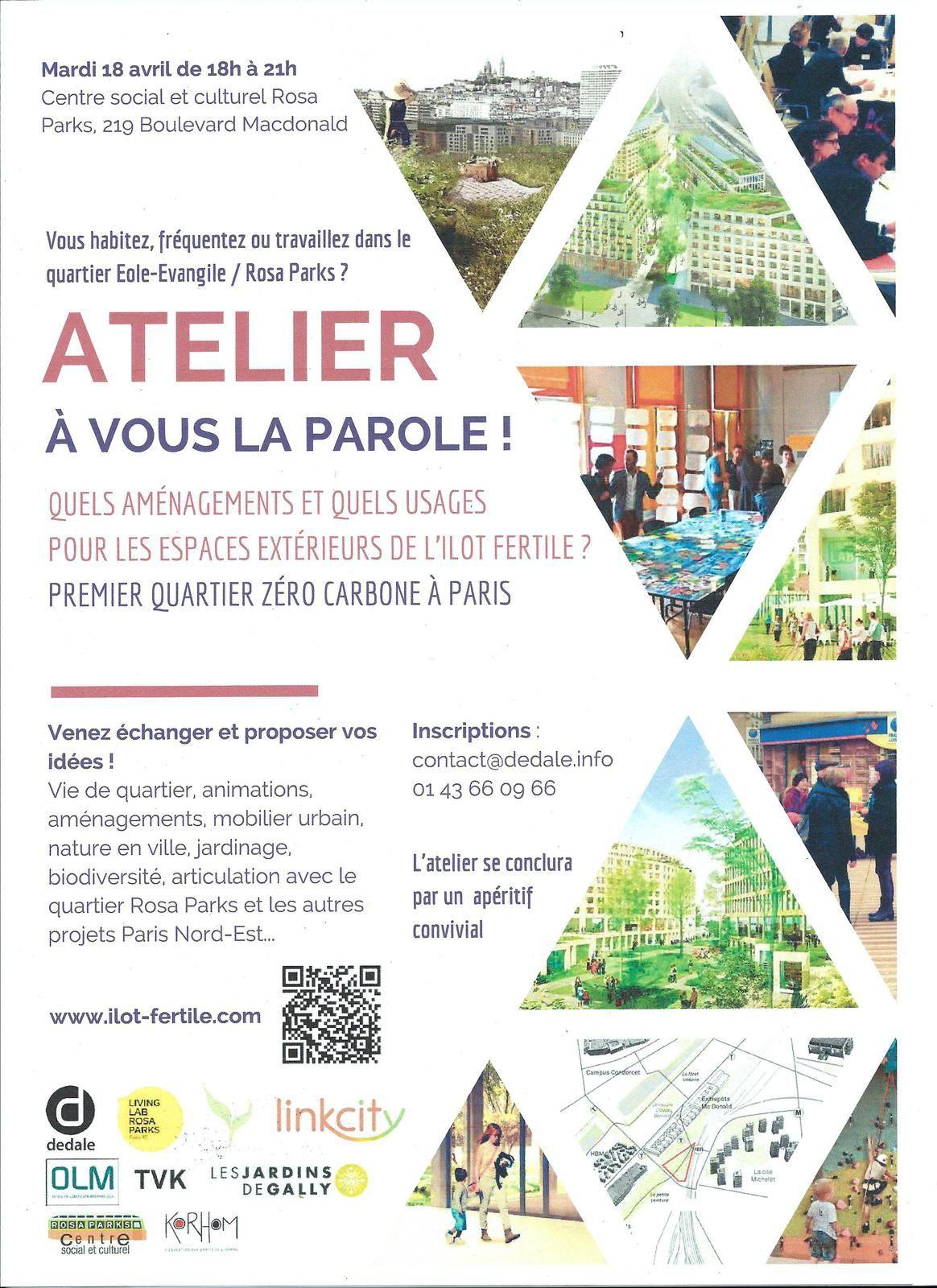 Triangle Eole-Evangile : atelier le 18 avril sur le projet de l'îlot fertile
