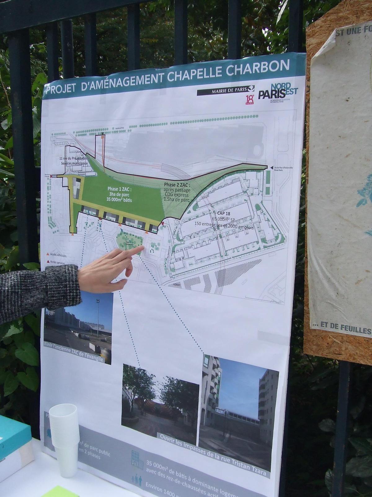 Chapelle Charbon : schéma d'aménagement du site  -  Photo ASA PNE