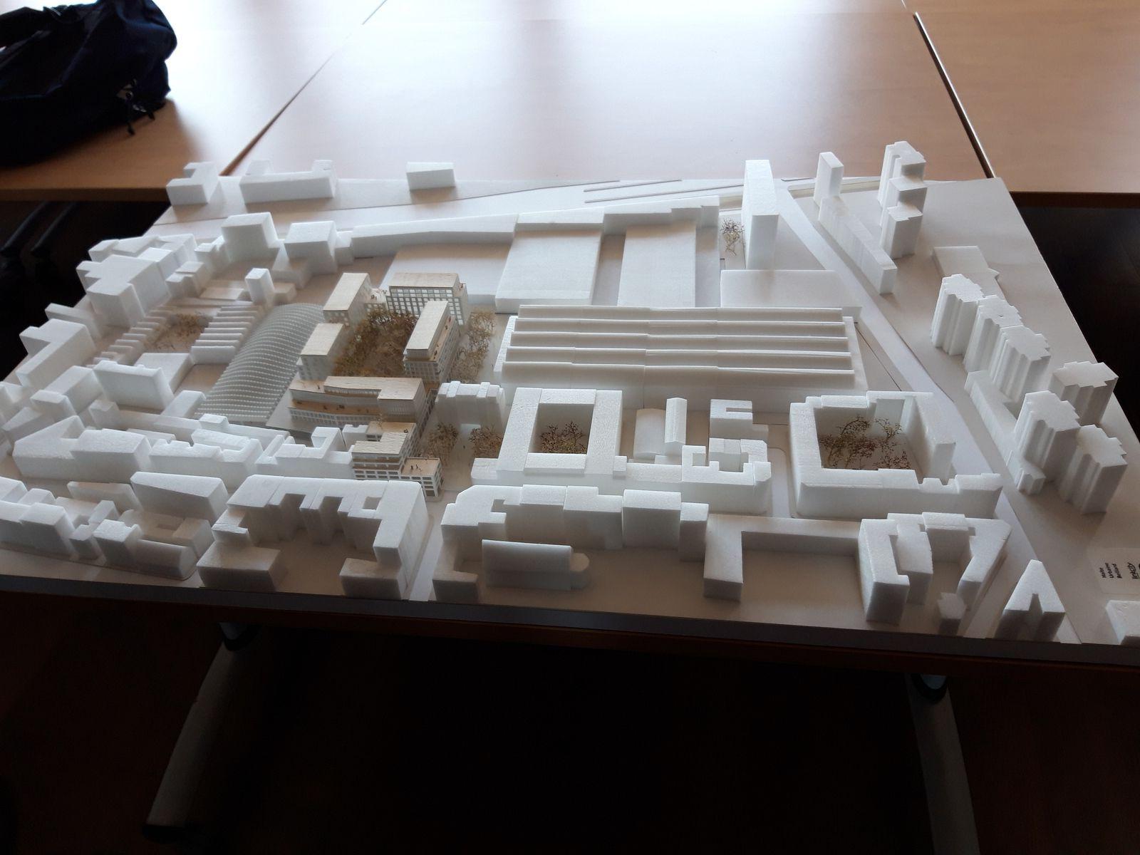 Maquette projet Belliard (RATP/LinkCity)  -  Photo ASA PNE