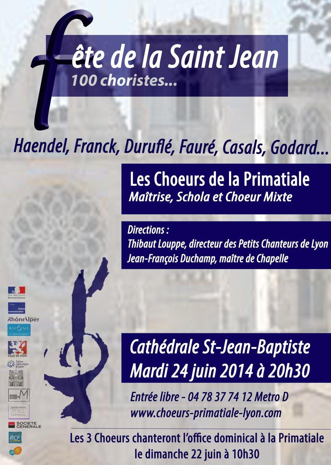 La fête de la musique le 24 Juin à la Cathédrale de Lyon