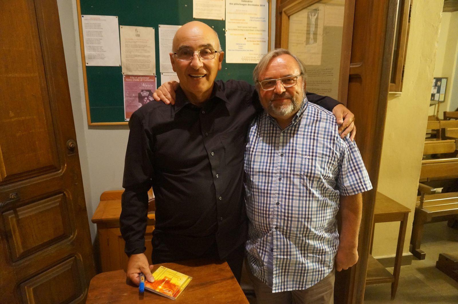 Avec Jean-Paul Poletti après le concert à Sartène