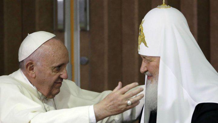 Rencontre entre le Pape François et le Patriarche Kirill