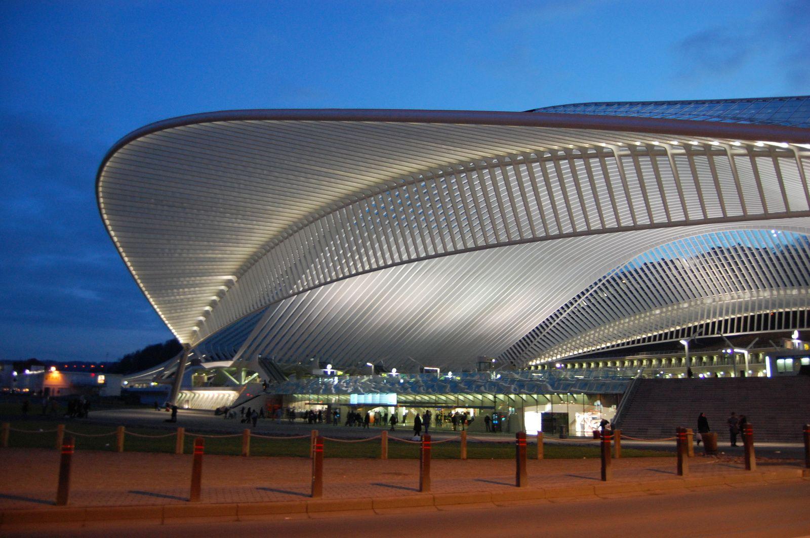 La gare de Liège Guillemins : architecte Calatrava