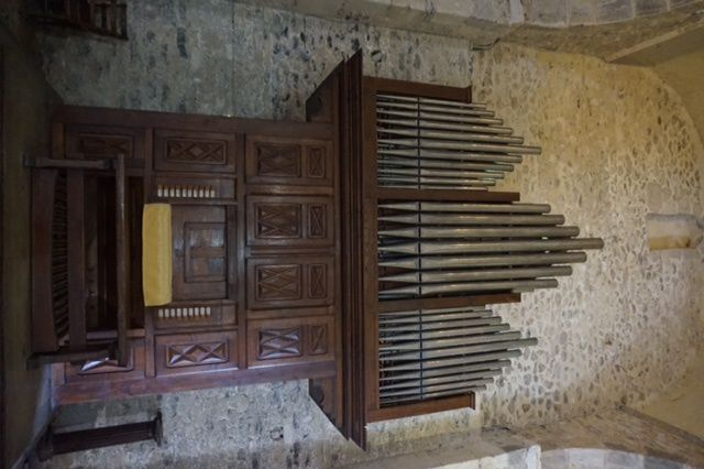 l'orgue de l'église St Just de Valcabrère