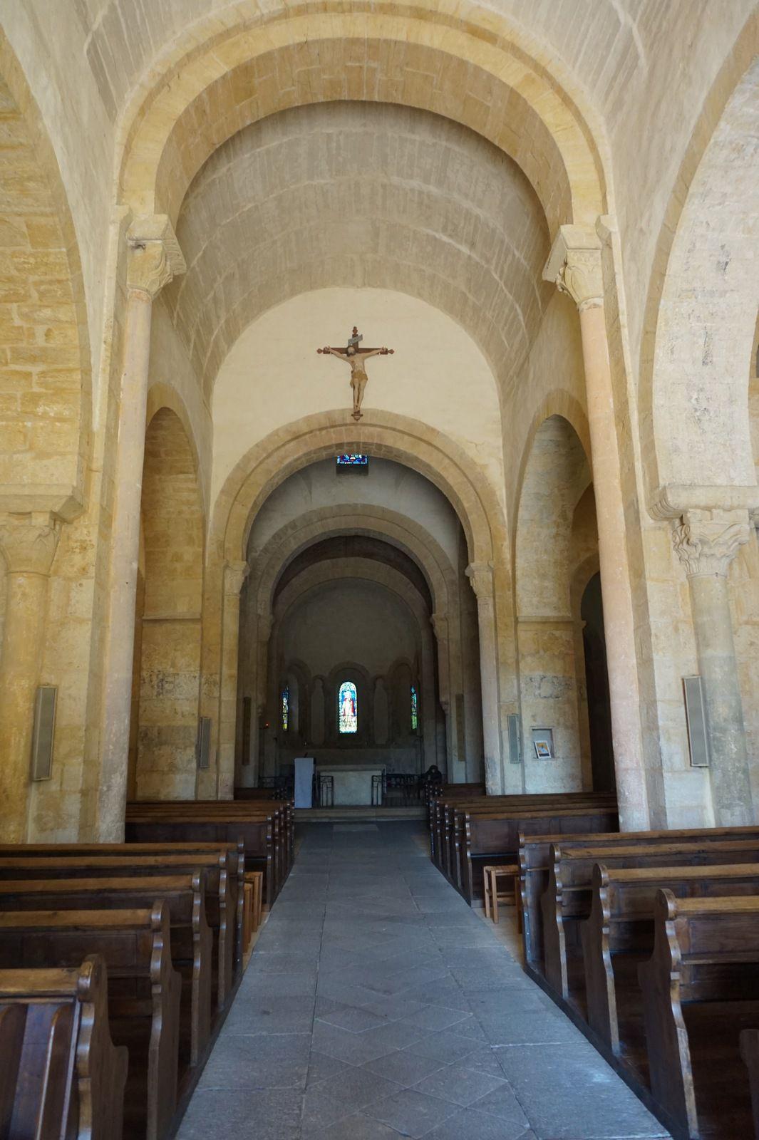 L'église romane  de  St Marcel à Iguerande.