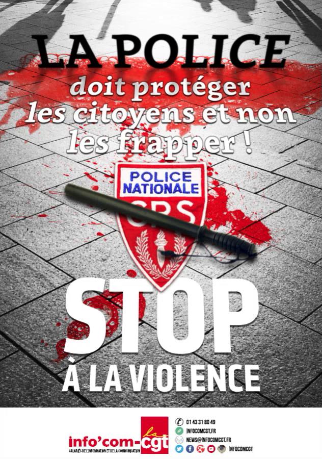 Une affiche de la CGT dénonçant les violences policières fait polémique