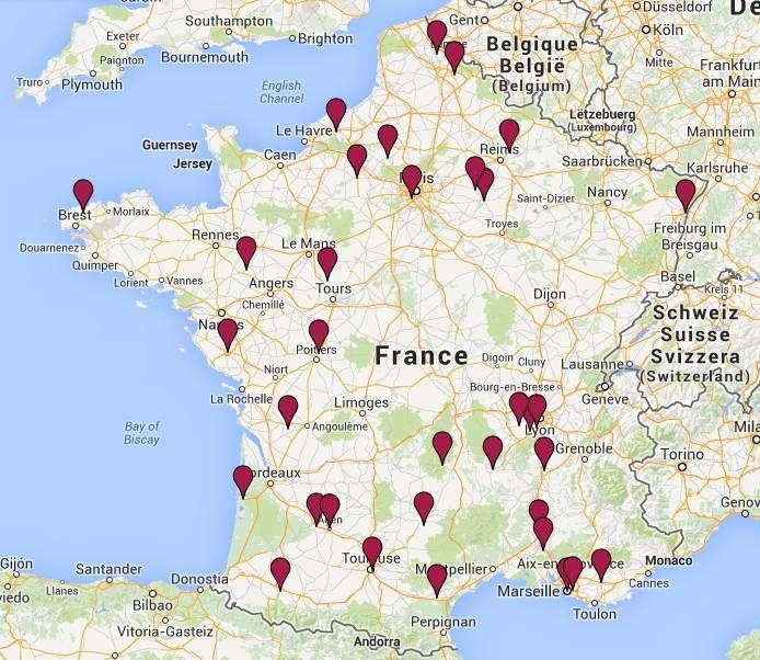 35 écoles de toute la France