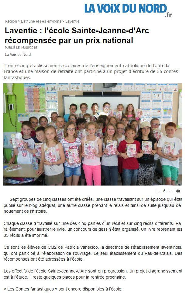 Ecole Sainte Jeanne d'Arc Laventie ! Bravo à tous les élèves et Patricia Vanecloo !