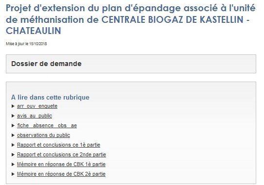Le plan d'épandage du méthaniseur de Chateaulin est contraire au Plan Algues Vertes