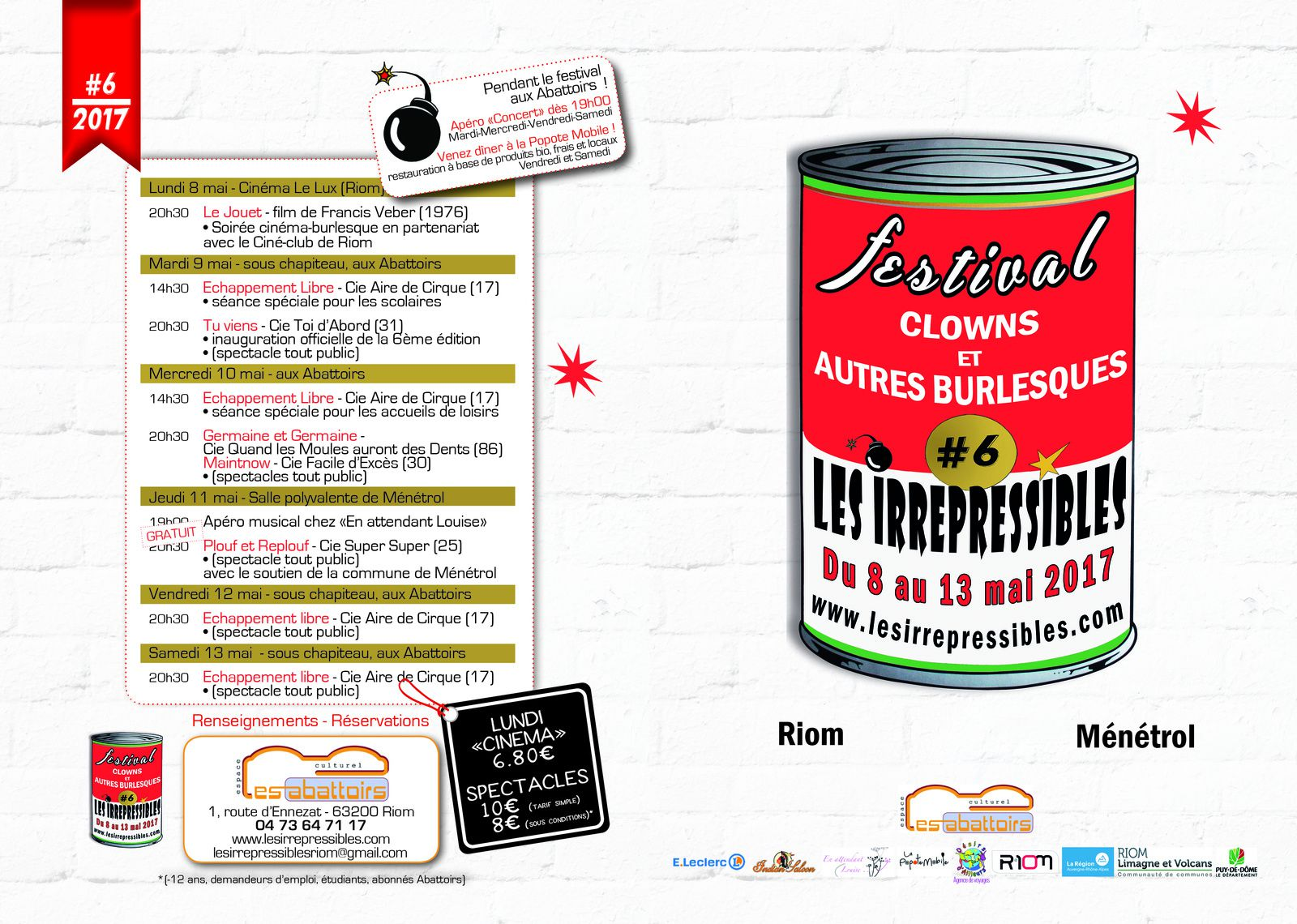 Flyer recto festival Lesirrepressibles