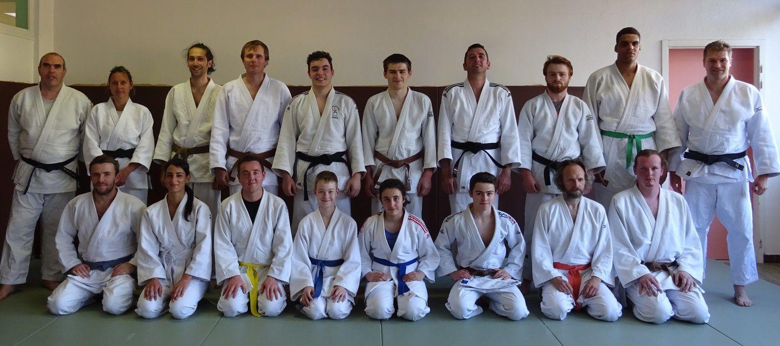 Entrainement commun Judo avec le Dojo de l'Iroise