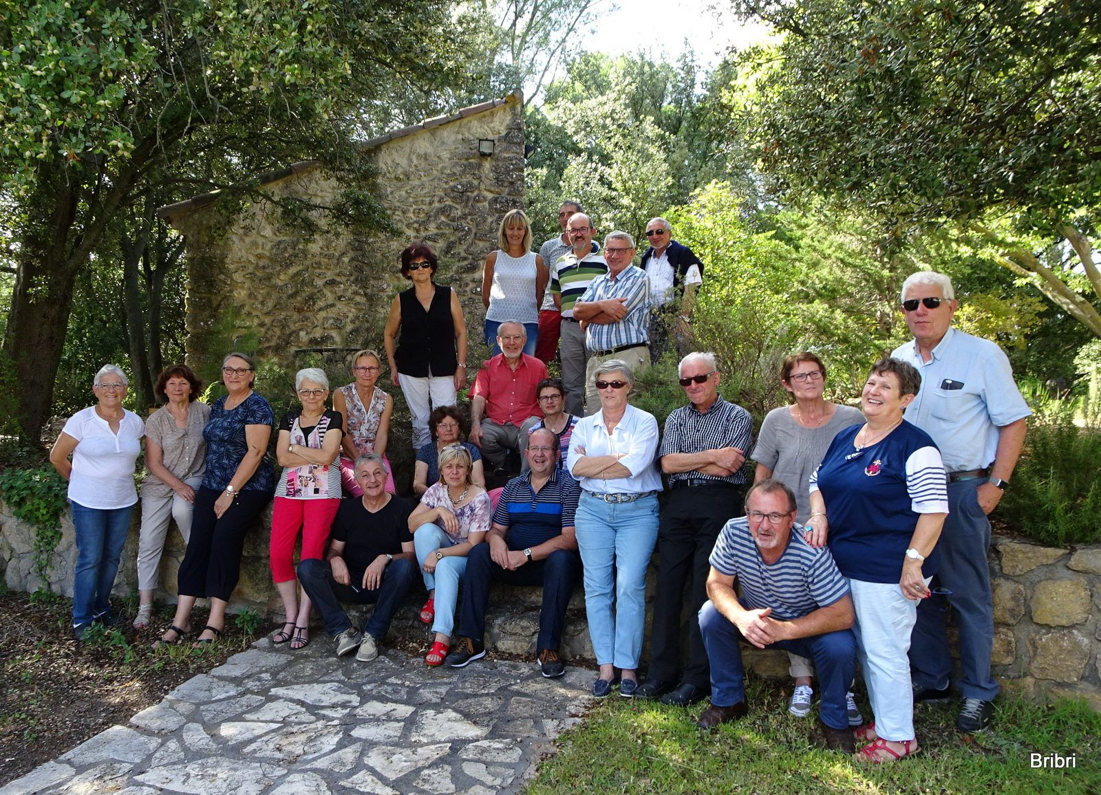 Le but du voyage et la photo de groupe.