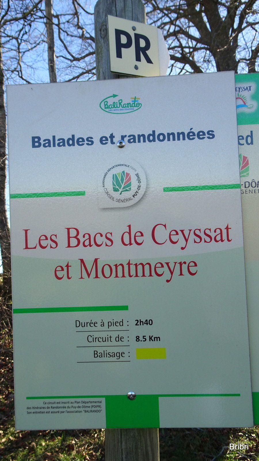 Rando à Montmeyre avec mon mari.