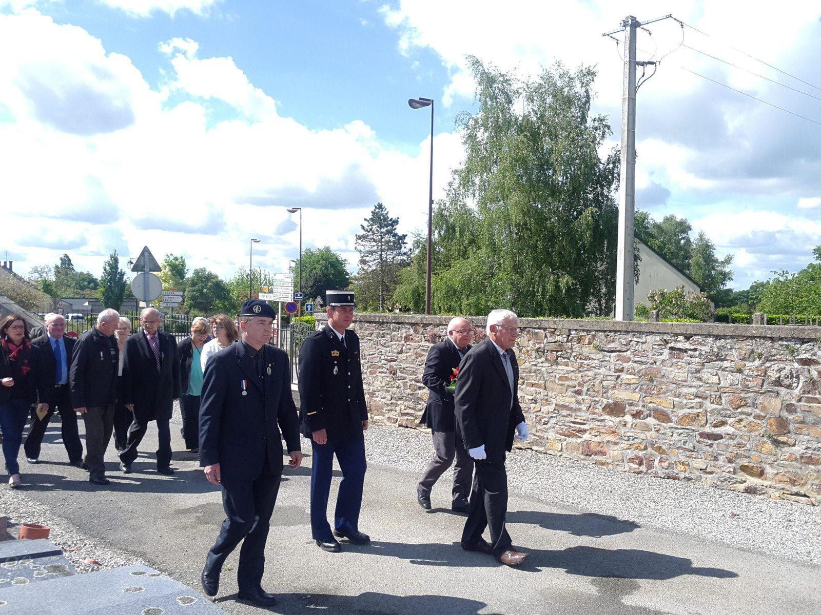 Remise d'insignes Soldats de france ce matin au Grand-Fougeray