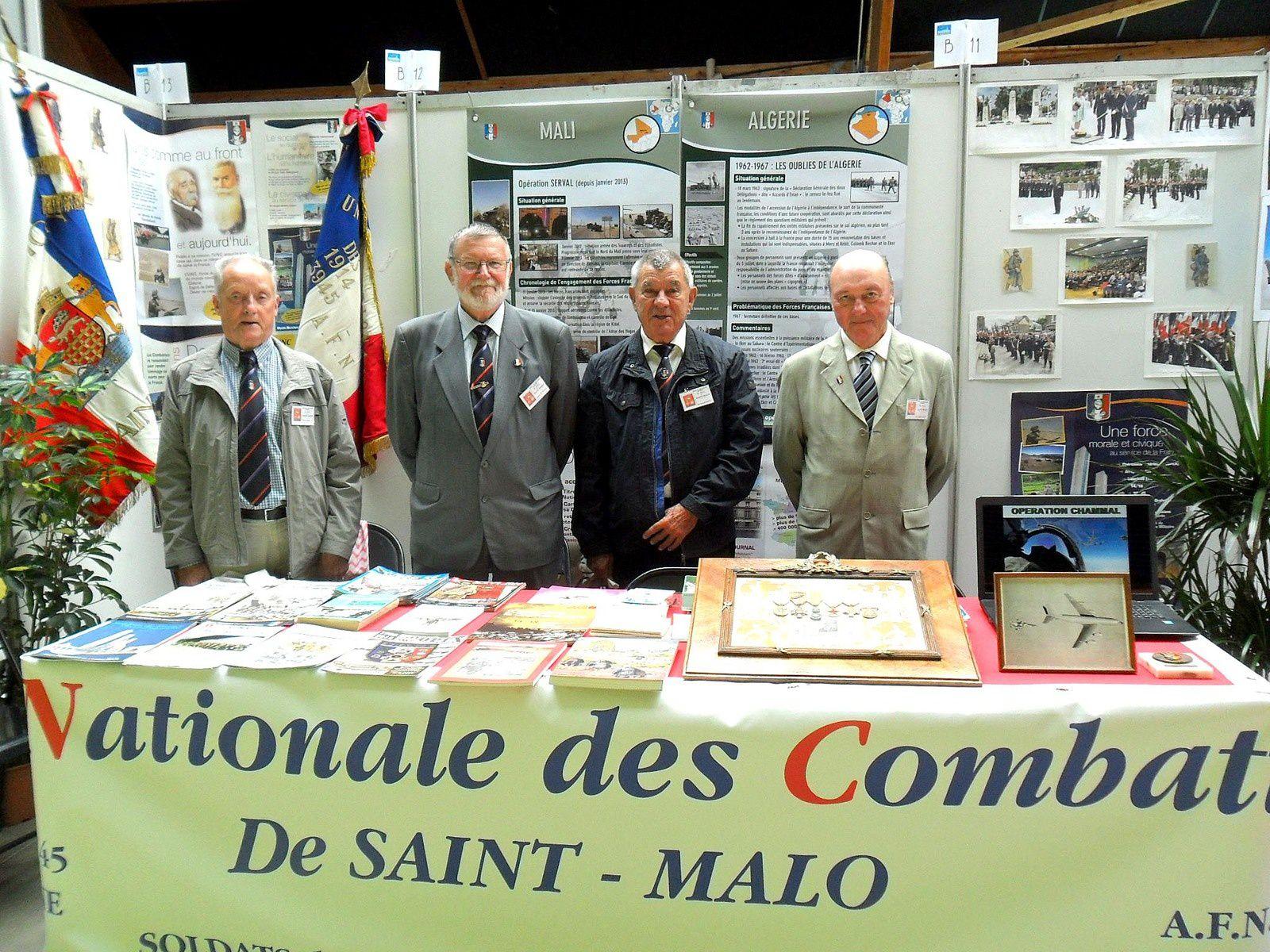 L'U.N.C. de Saint-Malo était présente ce 10 septembre 2017 au Forum des Associations (LAECUM).