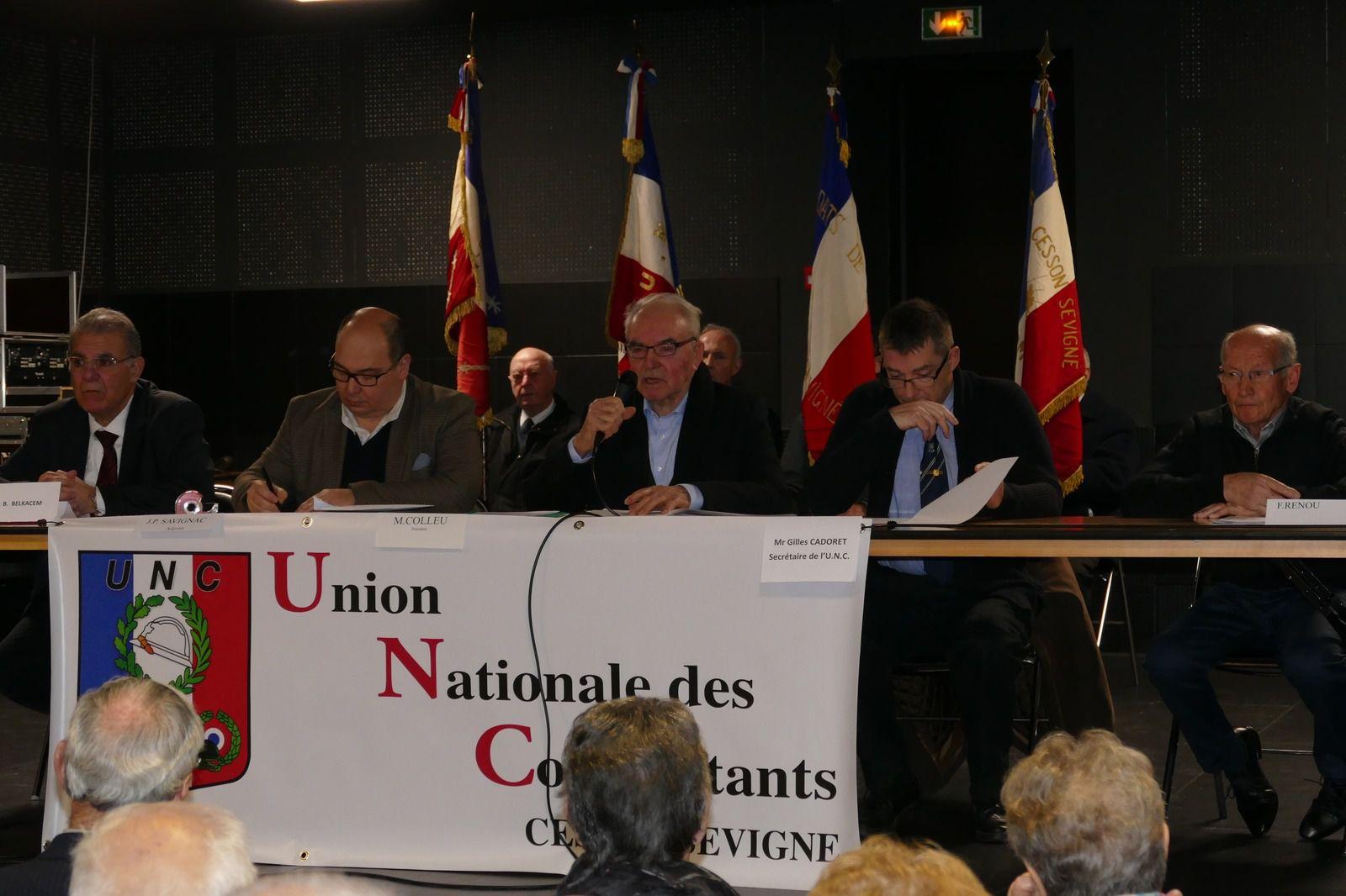 Assemblée générale de l'UNC de Cesson-Sévigné