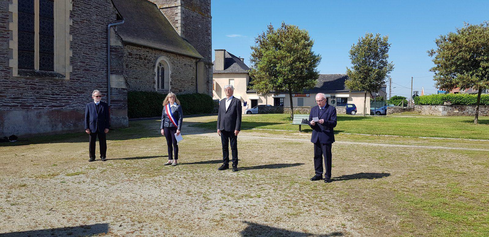 Cérémonie du 08 mai 2020 à Noyal Châtillon sur Seiche
