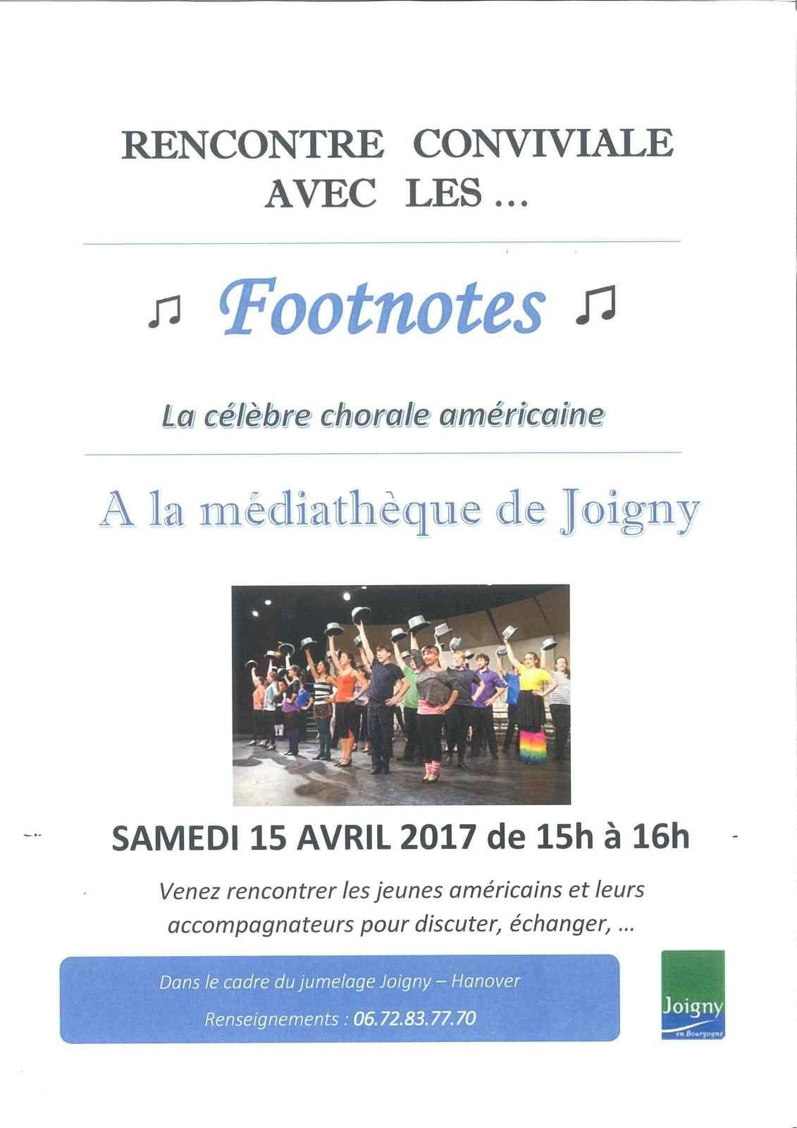 ARRIVEE DES FOOTNOTES DU 14 AU 22 AVRIL 2017 !!!