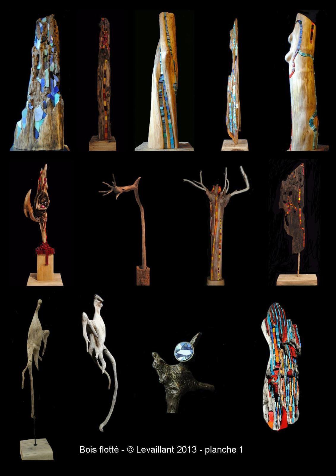 porfolio bois flotté et mosaïque © Pascal Levaillant 2006-2014