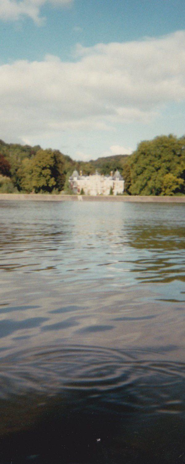 en 1998 en canoé près de La Fontaine