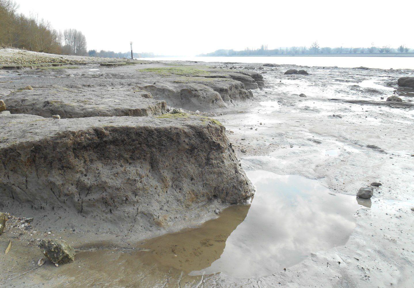 berge et vase à al Fontaine à marée basse