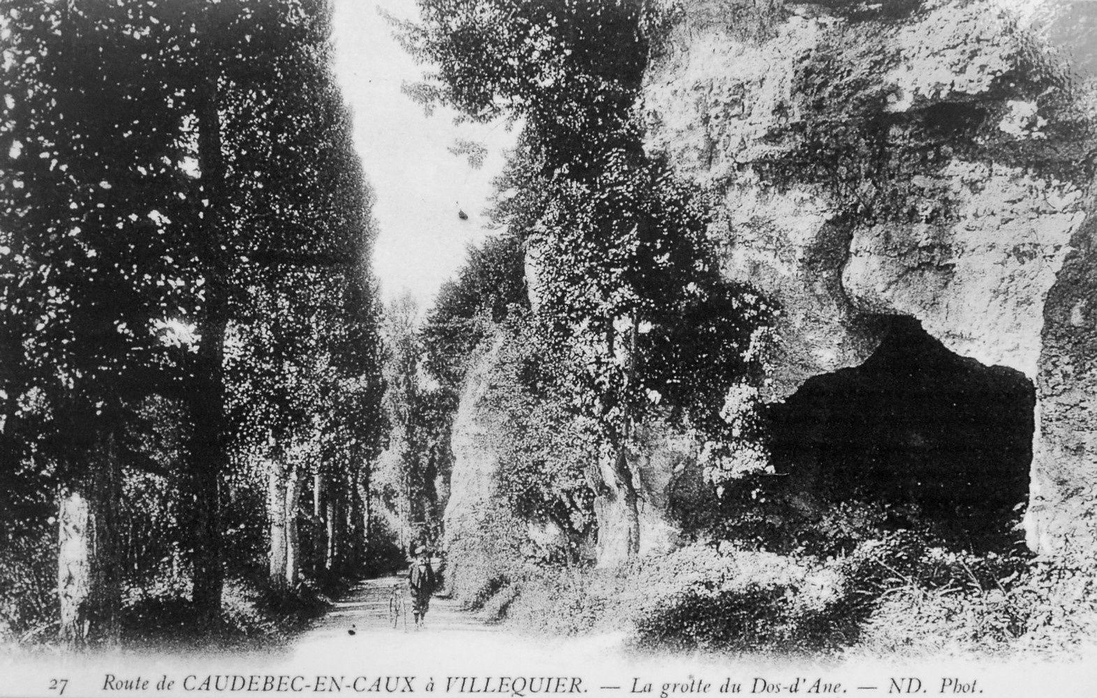 """""""l'âge des cavernes"""" à Villequier - Carte postale, Collection personnelle"""
