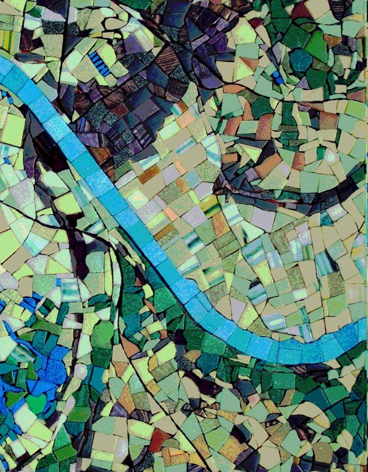 Zoom sur mon plan scénomosaïque de la Seine normande  entre Petiville et Notre Dame de Gravenchon
