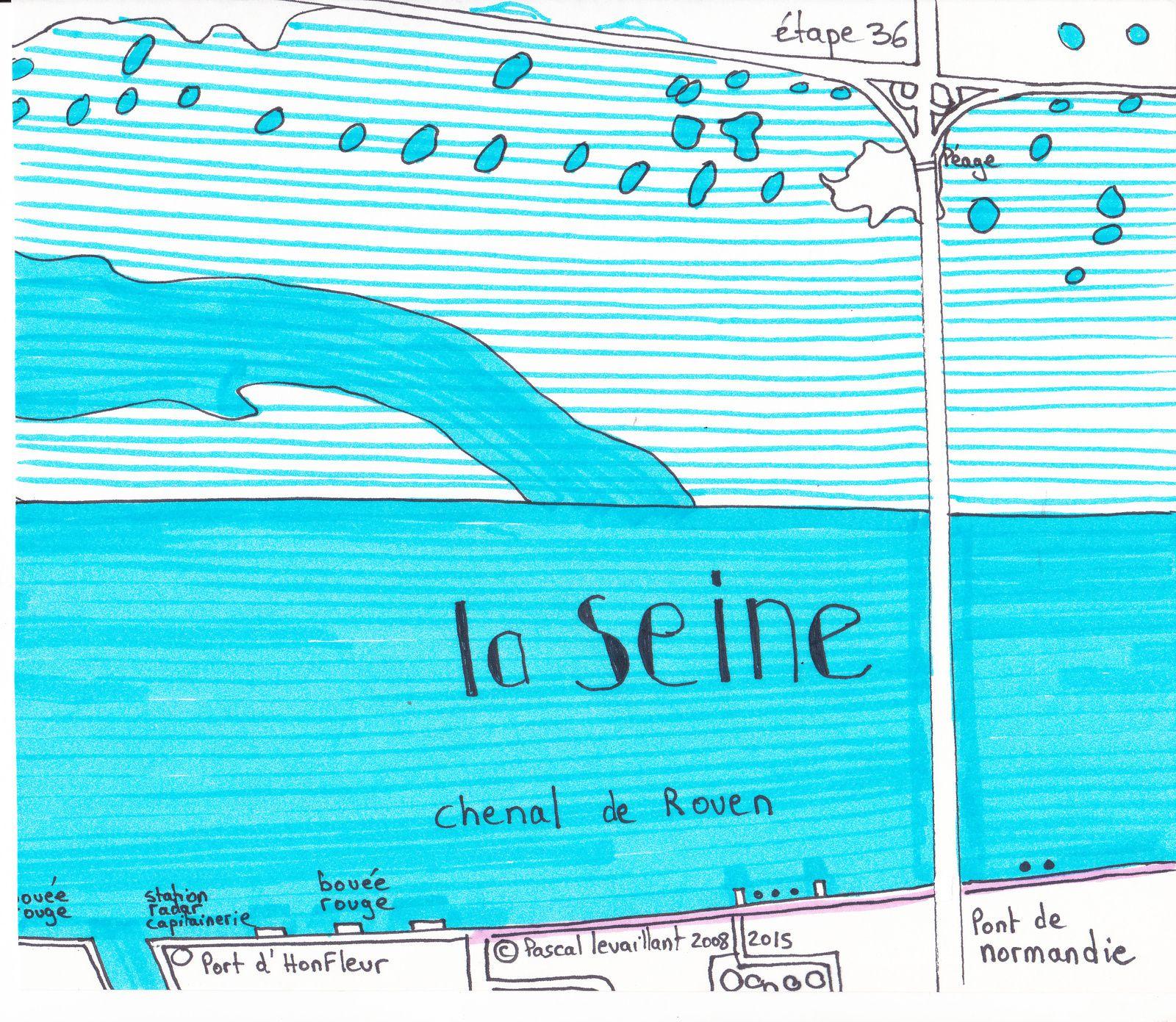 le parcours de la Seine: 37ème étape