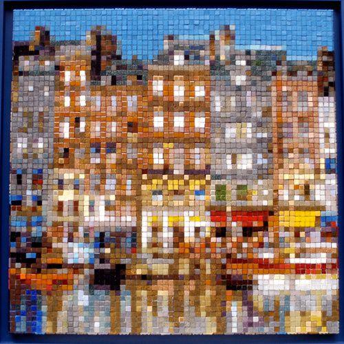 Mon pixel-artmosaic du port d'Honfleur © Levaillant 2010