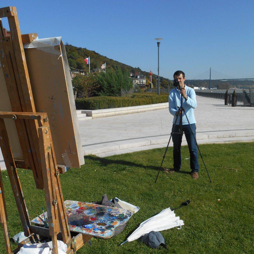 le peintre photographié par son modèle