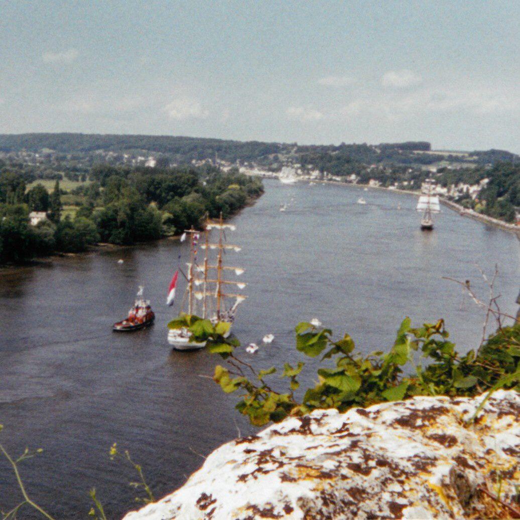 Des hauteurs des falaises,  commune de St-Pierre-de-Varengeville lors de l'Armada