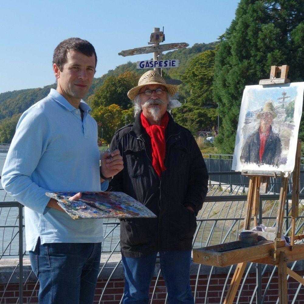 Avec le peintre Olivier Desvaux