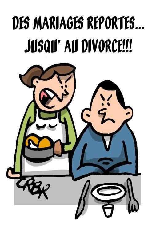 Des mariages reportés...