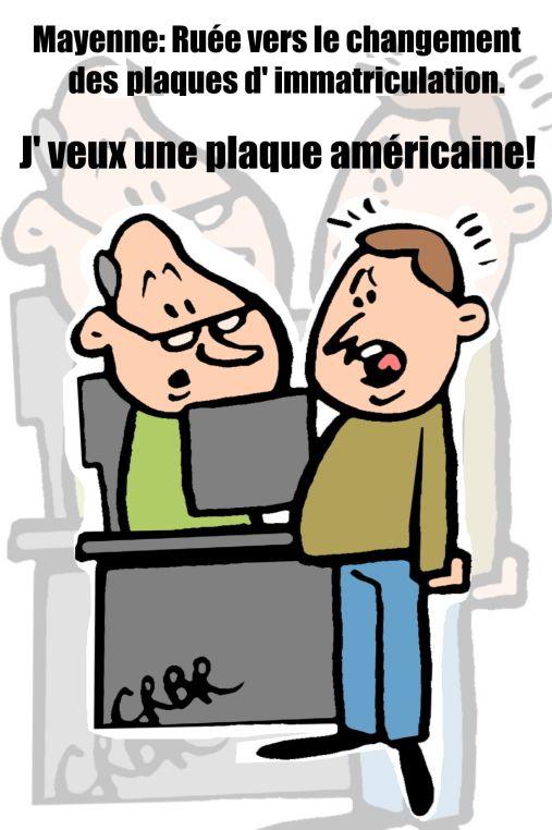 Mayenne: ruée vers le changement des plaques d' immatriculation