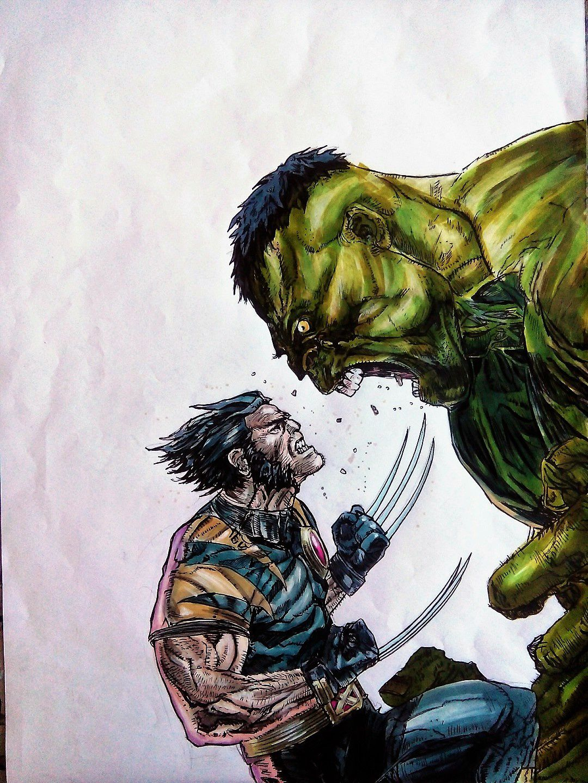 Hulk Et Wolverine Art Pour Tous