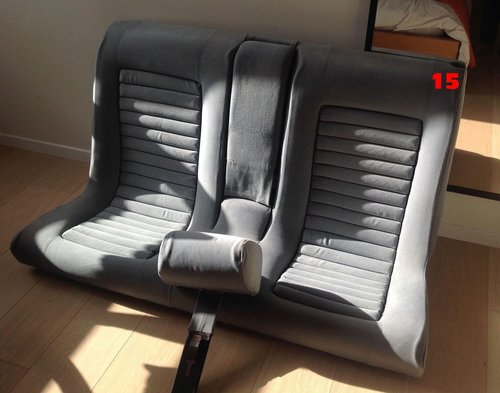 - Échange et nettoyage des sièges en tissus