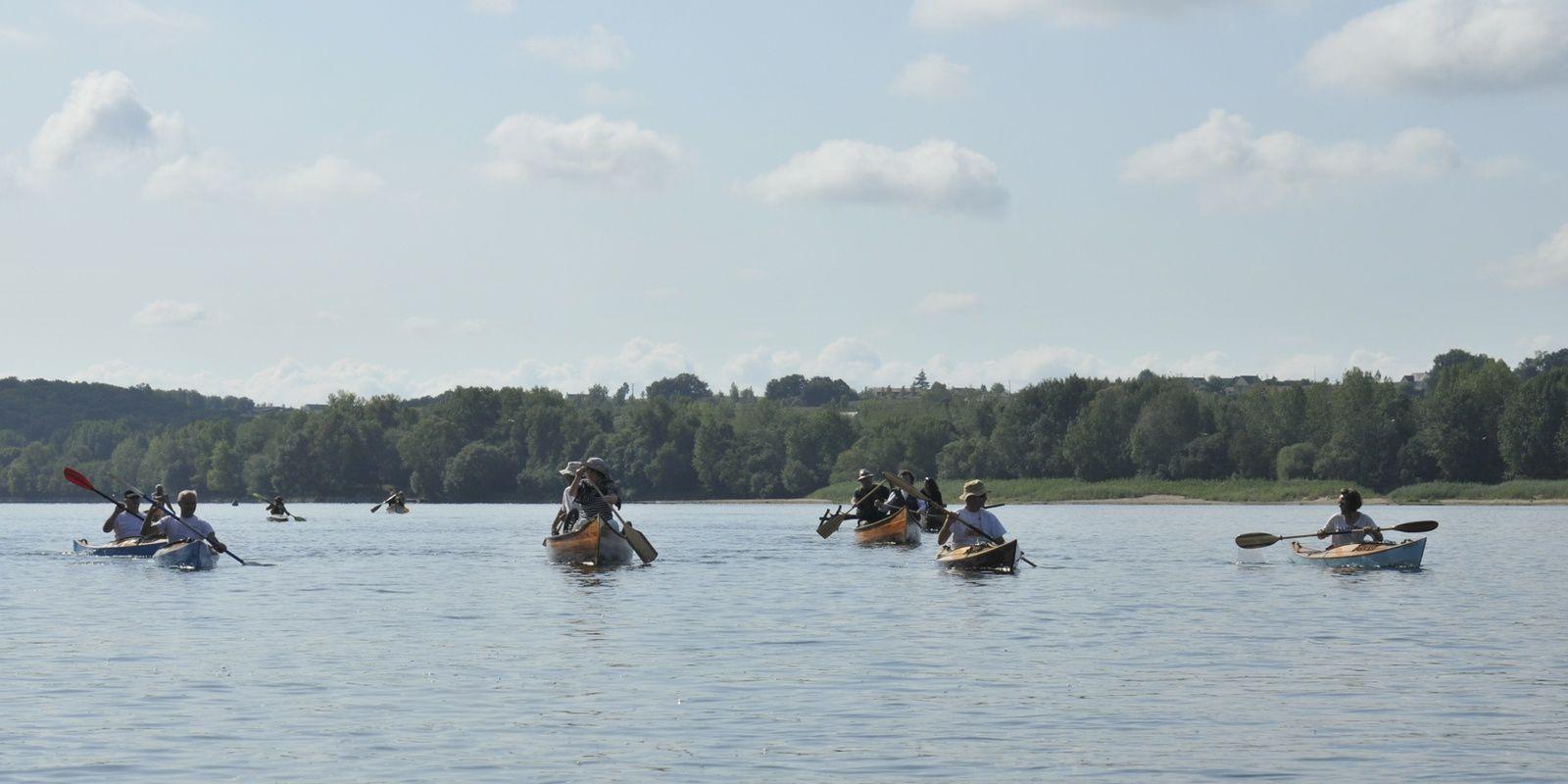 Voile et Canotage d'Anjou : 20 ans, canoës et kayaks bois sur la Loire