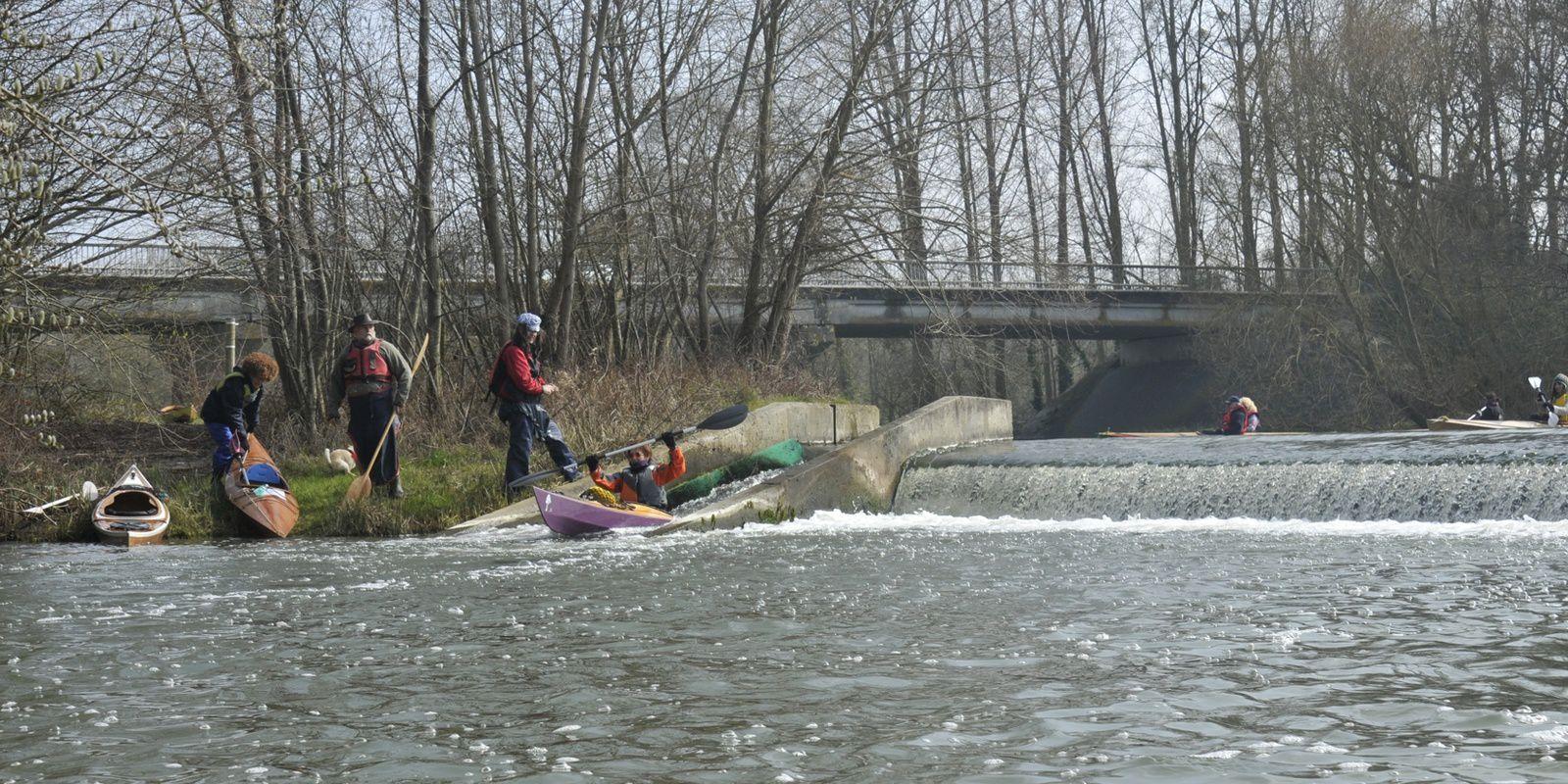 les rats toqués en kayak bois sur le Loir, les 19 et 20 mars