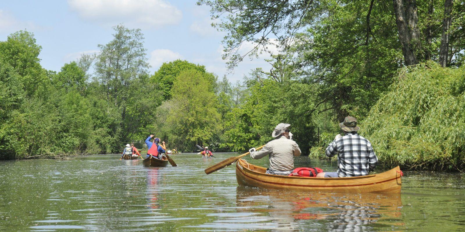 Descente de la Seiche, en canoë et kayak bois, les 14, 15 et 16 mai