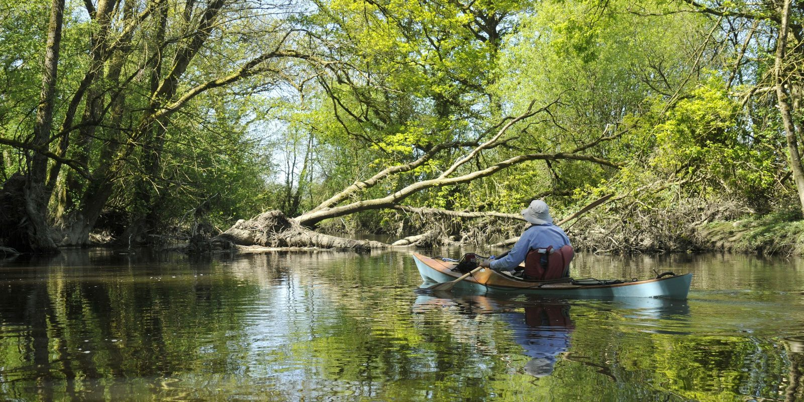 2 kayaks Léo sur le Don, entre Marsac et Guémené
