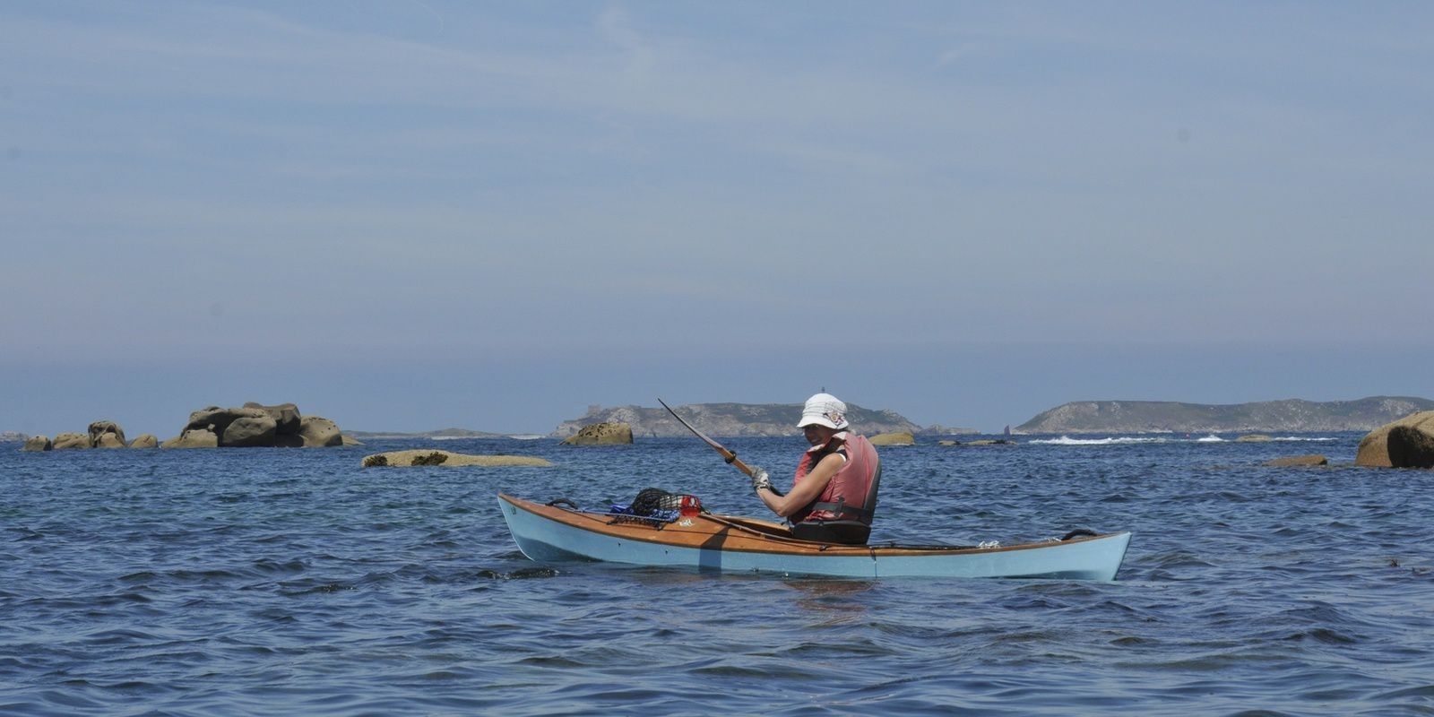 2 kayaks Léo à Ploumanach, le 15 juillet