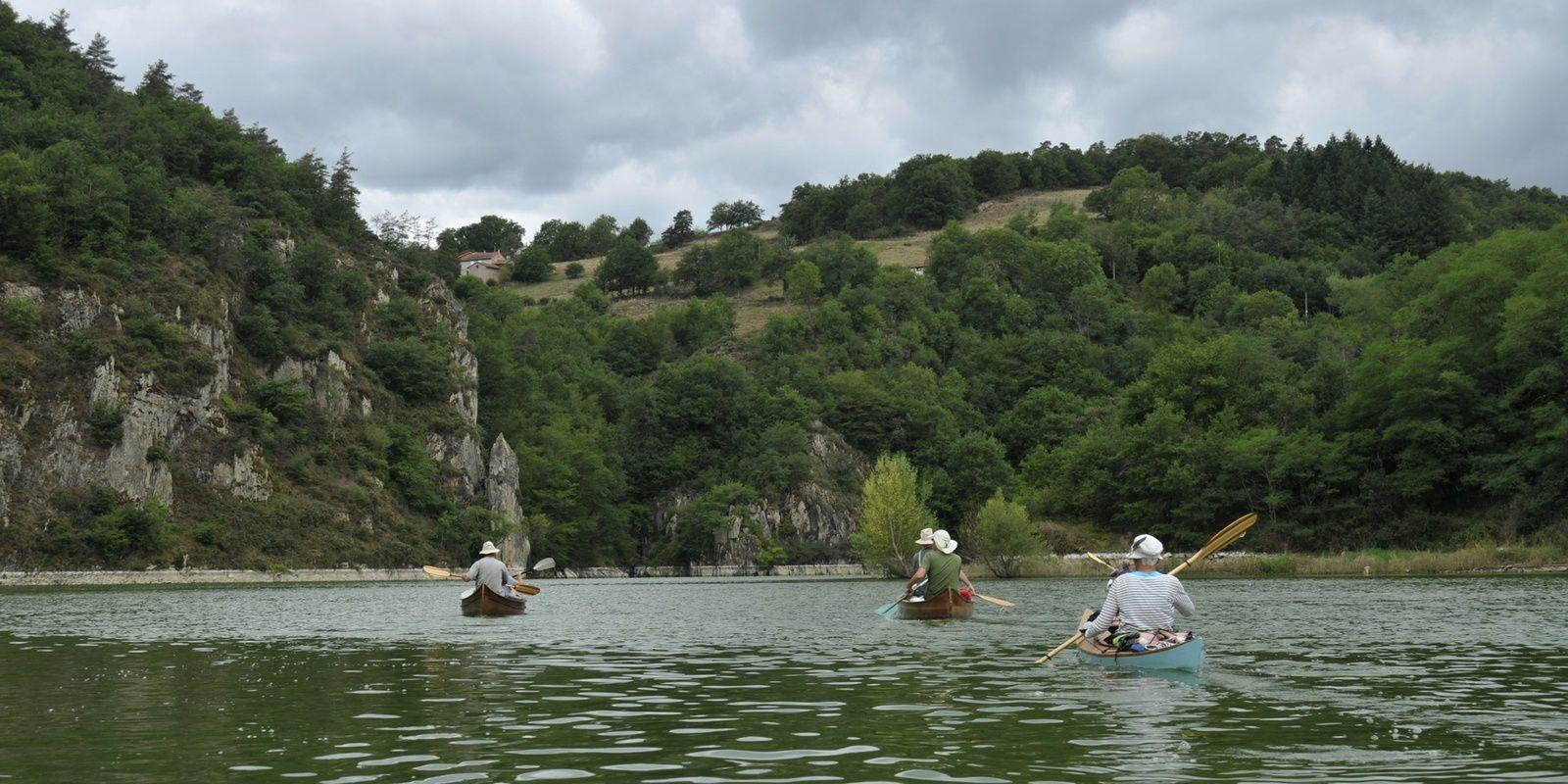 la Haute Loire d'Aurec sur Loire à Chambilly, en canoë et kayak bois, du 6 au 13 aout 2017