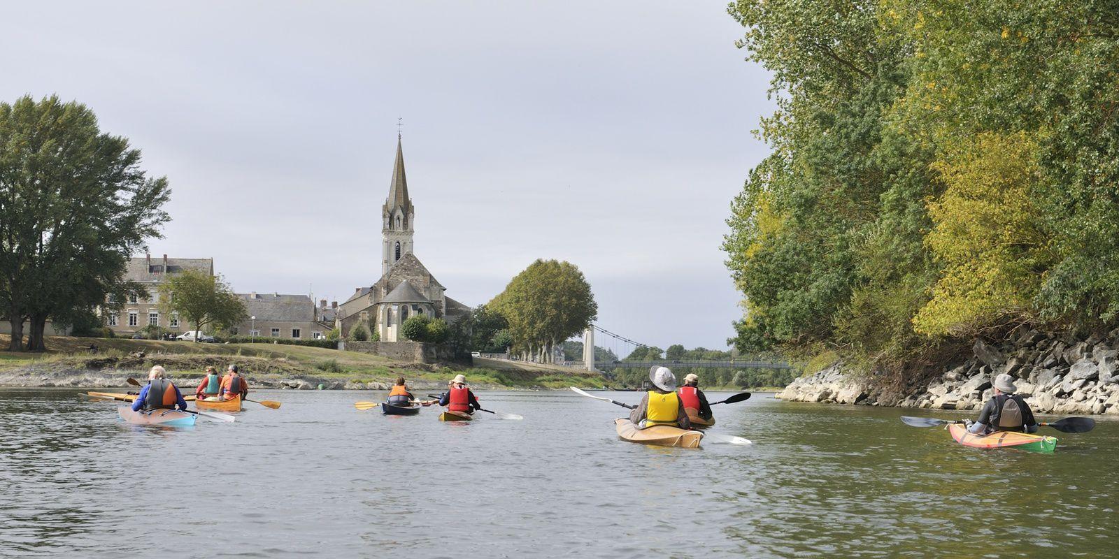 les rats en kayak et canoë bois sur la Loire le 23 septembre : les Ponts-de-Cé - Montjean