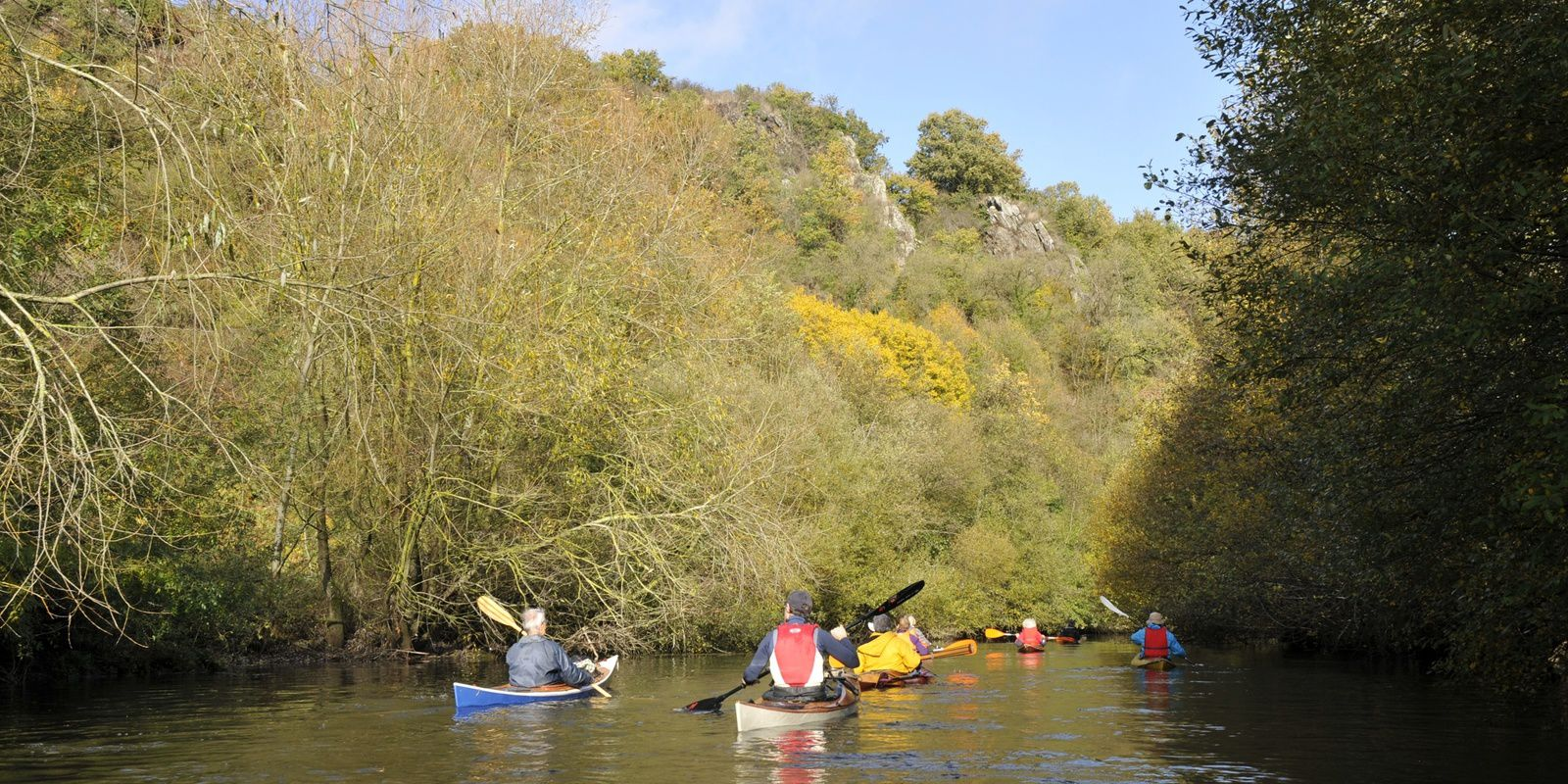 les rats en kayak bois sur l'Evre - le 10 novembre