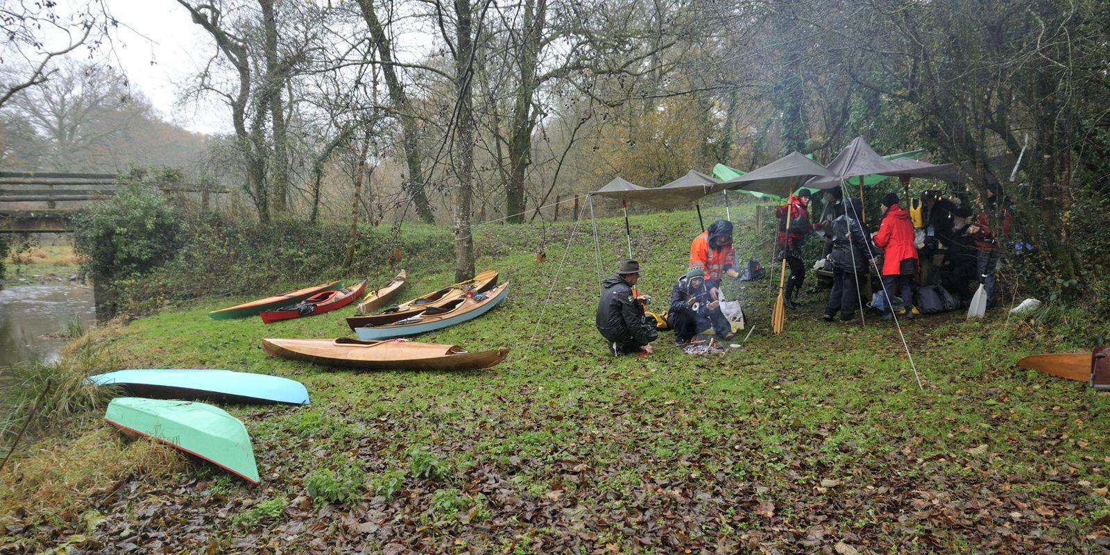 les rats de Noël en kayak bois sur la Blanche, le 1er décembre