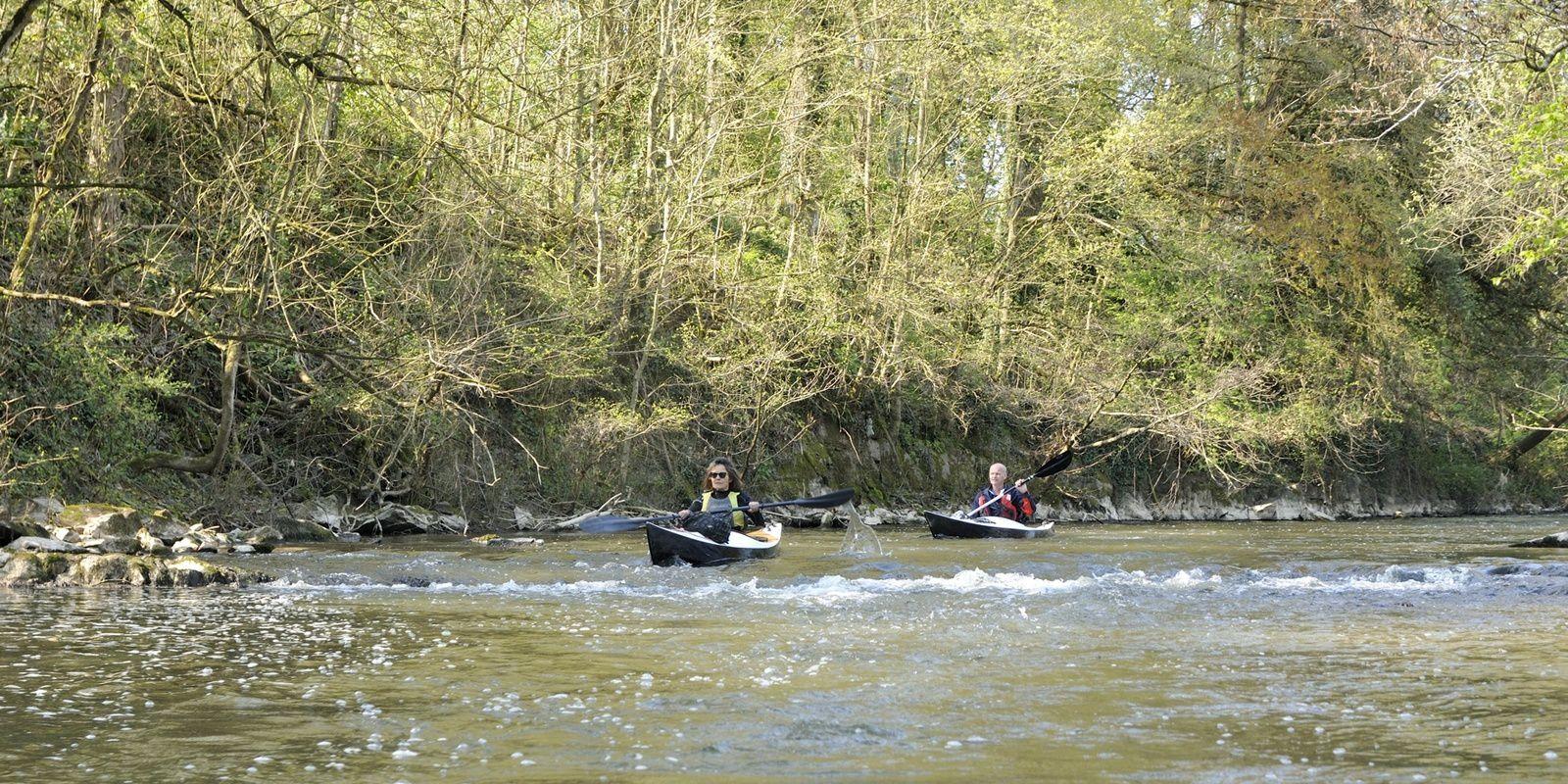 """3 kayaks """"Léo"""" sur la Vilaine, de Vitré à Chateaubourg, le 13 avril"""